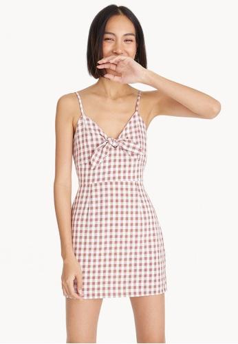 87c5ba633f5 Buy Pomelo Mini Cami Gingham Dress - Brown Online on ZALORA Singapore