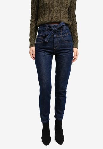 Mango blue Belt Organic Cotton Jeans MA193AA0SM94MY_1