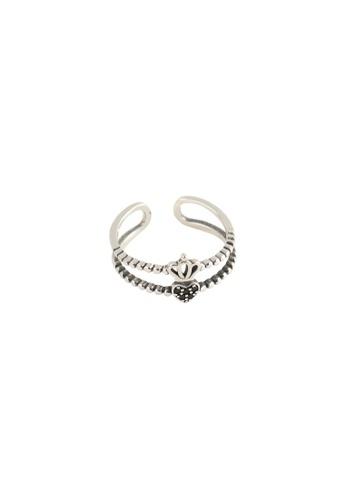 A-Excellence silver Premium S925 Sliver Geometric Ring 764ADAC392E040GS_1