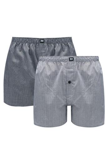UniqTee 多色 2-Pack Poplin Boxers EFDECUS425E0A9GS_1