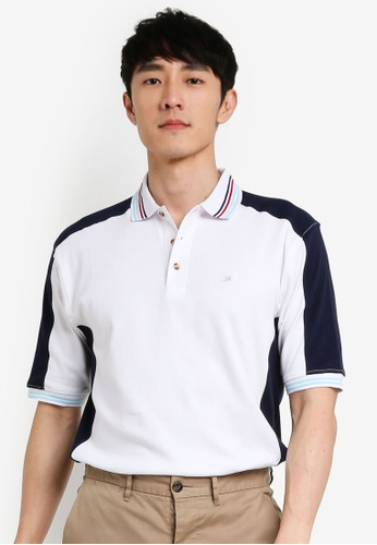 John Master white John Master Casual Regular Fit Lifestyle Polo Short Sleeve  Polo - White 8069002-AO C2EC3AA24EDE76GS_1