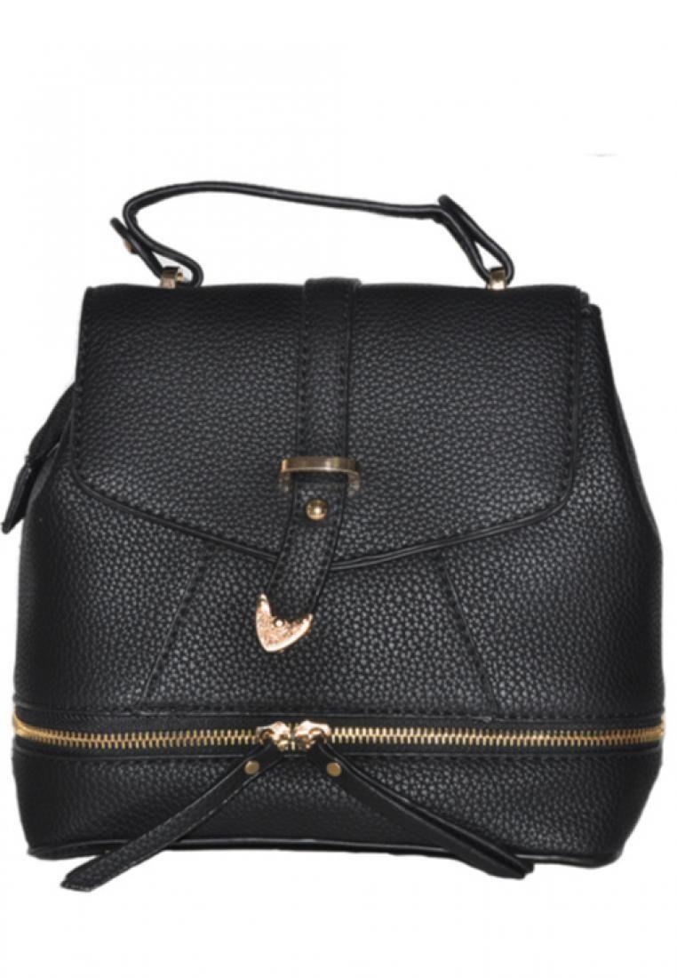 KL16024 Convertible Leather Shoulder Bag Backpack with Tassel