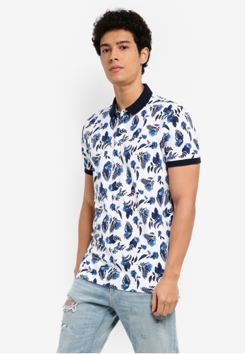 Hollister white Floral Polo Shirt 31DE1AA89622EBGS_1