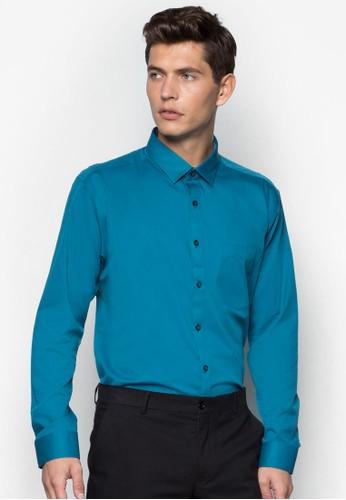 基本寬素色長袖襯衫, esprit旗艦店服飾, 服飾