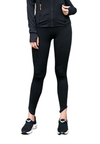 B-Code black ZYG3029-Lady Quick Drying Running Fitness Yoga Sports Leggings -Black AF864AA8E66FEEGS_1