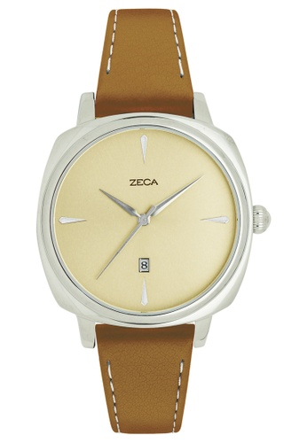ZECA brown and silver Zeca Watches Couple Ladies Fashion - 336L Brown Silver ZE260AC63SLSSG_1