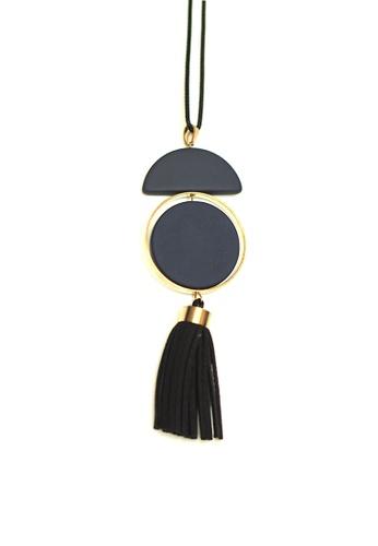 ACEXSPADE blue Zares Tassel Necklace – Blue 7B18EACF32F7E9GS_1