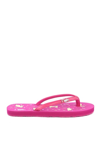 Ripples pink Meadow Rabbits Flip Flops 42F9CSHCED4930GS_1