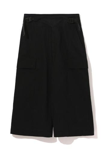 izzue black Utility culottes 1AFAAAAB48EDCDGS_1