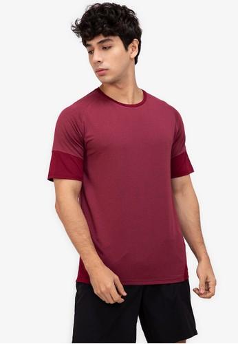 ZALORA ACTIVE red Raglan Sleeve Colour Block T-Shirt EE056AA6846435GS_1