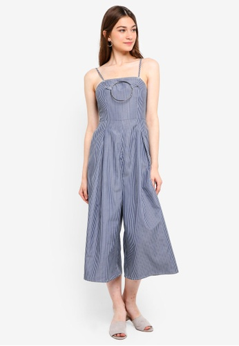 Something Borrowed navy Ring Detail Culotte Jumpsuit 2FEB9AADC3E4FEGS_1
