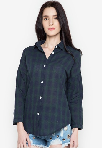 Chase Fashion green Plaid Flannel Shirt CH547US0K371PH_1