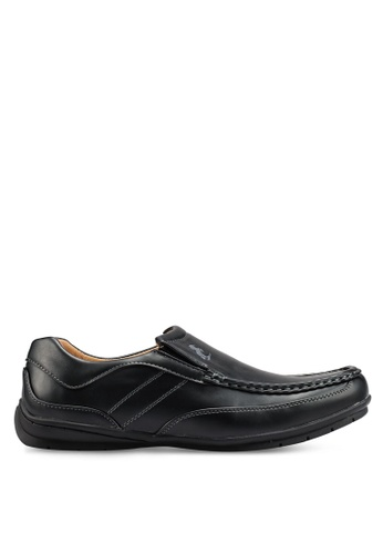 Rocklander black Matarazo Faux Leather Loafers F9AF6SHC6580A2GS_1