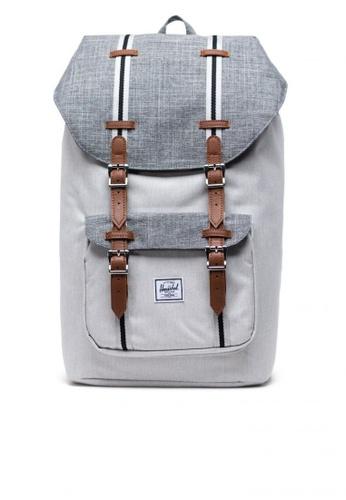 Herschel grey Backpack Little America Raven Crosshatch A6B95ACFEB938DGS_1