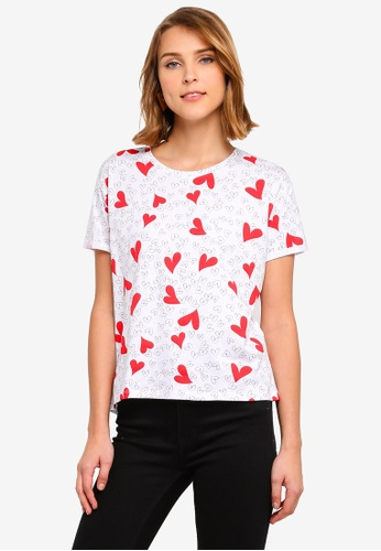 2c96c7846b20 Shop MANGO Heart Print T-Shirt Online on ZALORA Philippines