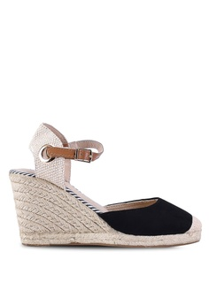 3900cd87b90 Dorothy Perkins black Black Raya Espadrilles Wedges 45700SH801F035GS 1