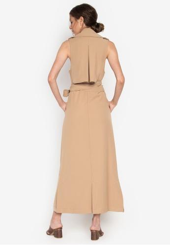 8c1e7c3cb491 Shop the   edit Althea Sleeveless Trench Dress Online on ZALORA ...