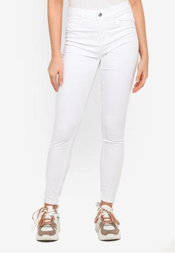 PIMKIE white White Wash Skinny Jeans B3F1EAA37918B4GS_1