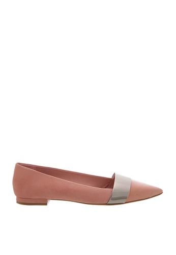 SCHUTZ pink SCHUTZ Flat Shoes - MARTINA (POPPY ROSE/PRATA) 2EB4ESH110C5D3GS_1