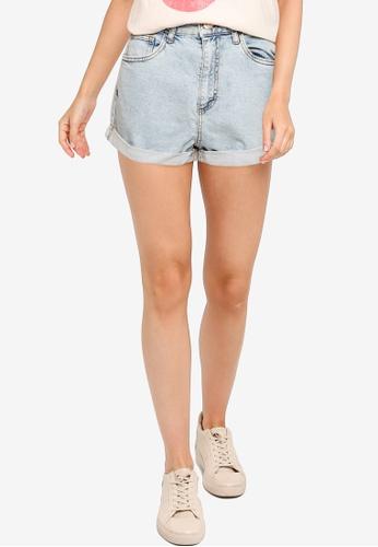 Cotton On blue High Rise Classic Stretch Denim Shorts 43B1CAA588456CGS_1