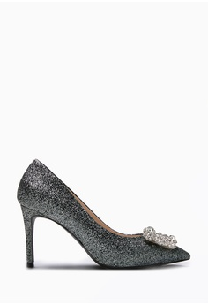 5f9fa8423 PAZZION black Sparkly Embellished Front Heels 9FE3ESH41CFC58GS 1