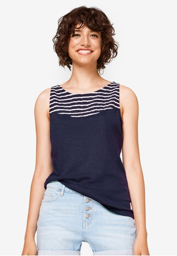 ESPRIT navy Striped Tank Top AA274AA320F6B2GS_1