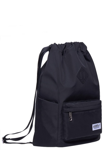 All Things New black Kaukko K2031 Drawstring NYLON Backpack 36735AC1B0DFE2GS_1
