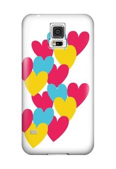 Hearts Semi-Transparent Case for Samsung Galaxy S5