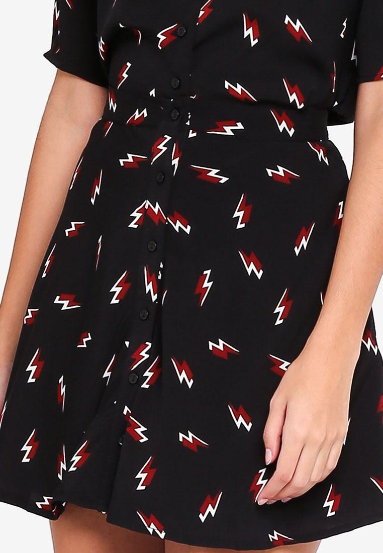 Black Lightning Lightning Glamorous Skirt Skater q40tqwIx