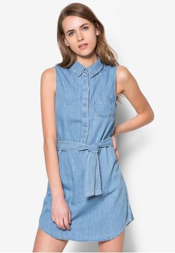 Moto 無袖襯衫連身裙zalora時尚購物網評價, 服飾, 夏日洋裝