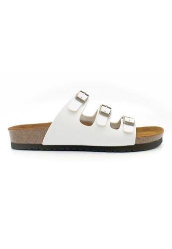 SoleSimple white Ely - White Sandals & Flip Flops 9CC54SHA32C3CBGS_1