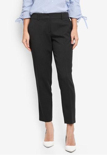Dorothy Perkins black Black Pinstripe Ankle Grazer Pants 223B4AA0A05114GS_1
