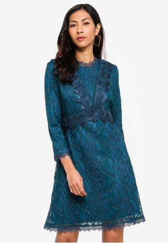 ESPRIT blue Light Woven Mini Dress 95707AAC638584GS_1