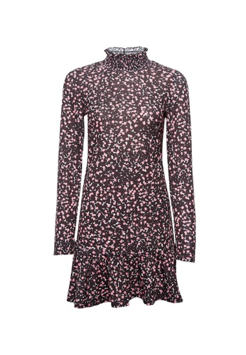 Dorothy Perkins multi Printed Shirred Neck Dress 022ADAAB8314F7GS_1