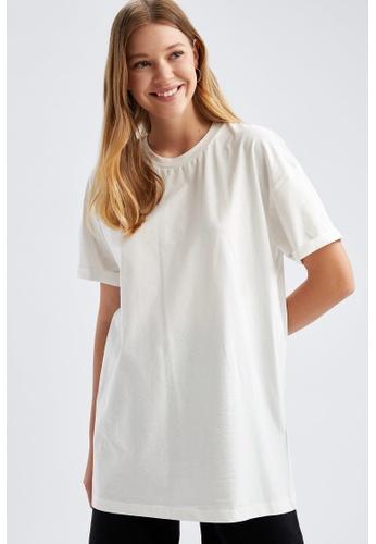 DeFacto beige Woman Knitted Short Sleeve Tunic CD24DAA3B9E309GS_1