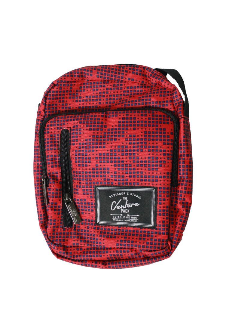 Red Pixels Sling Bag