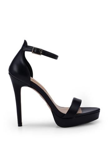 ALDO 黑色 Madalene Open Toe Ankle Strap Platform Heels F3B2FSH2923CB2GS_1