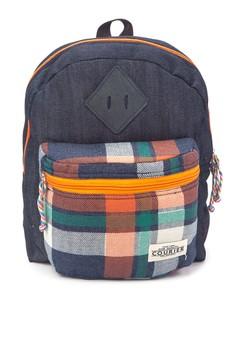 Checkerd Denim Mini Backpack