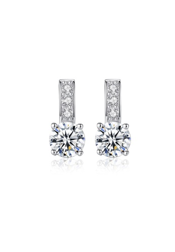 SUNRAIS silver High quality Silver S925 silver hearts and arrows earrings 476C4ACB3C529AGS_1