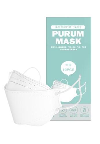 La Floret white PURUM Masker KF94(Standard Korea) 4 ply/ isi 10pcs/Box bahan tebal 5C642ES4E92503GS_1