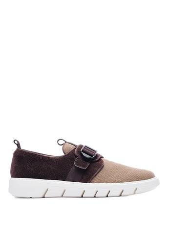 Life8 brown Lightweight Cow Suede Shoes LI286SH92GDFMY_1