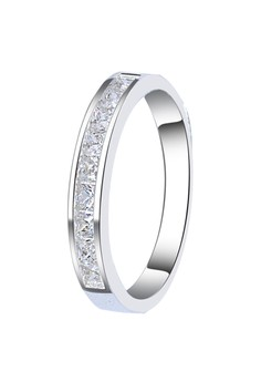 Channel Set Princess Cut Couple Ring