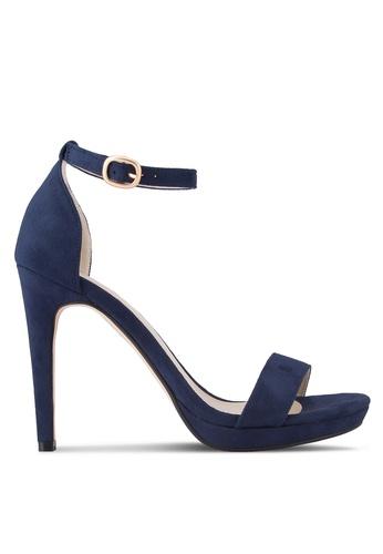 ZALORA navy Ankle Strap Sandal Heels 9A5D5SHF0E8194GS_1