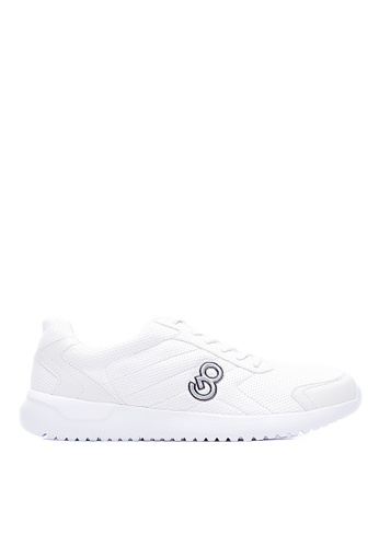 Life8 white Lightweight Mesh Sports Shoes With Exclusive Totem-09513-White LI283SH0FUBASG_1