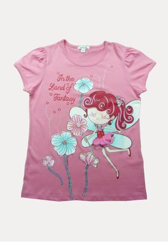 Bossini pink Bossini Kids Girl T-Shirt Pale Rose (74082810030) DBD24KAD35DA46GS_1