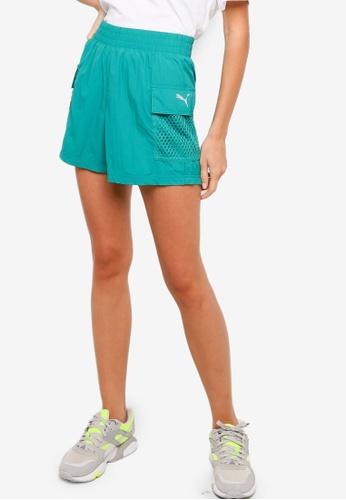 Puma green Evide Woven Women's Shorts 2E174AA737DFCBGS_1