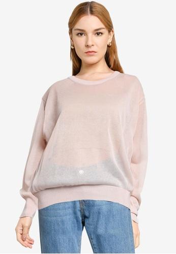 LOWRYS FARM brown Light Sweater B4D74AA43F7BB2GS_1