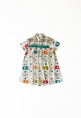 YeoMama Batik green Ondeh Ondeh Batik Dress E5ED0KAD8EB14CGS_1