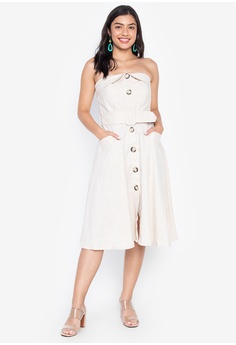 2aa685fe32 Plains   Prints beige Marbella Kortney Tube Dress 0F8C2AAF8EBA09GS 1