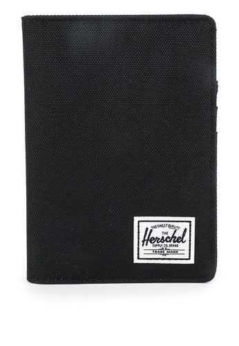 Herschel black Raynor Passport Holder Wallet 2A967AC347C346GS_1